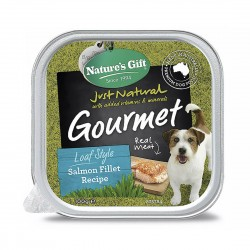 Nature's Gift Dog Tray Food Salmon Fillet 100g