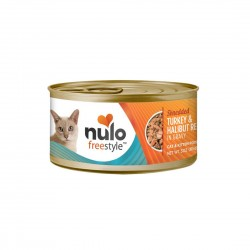 Nulo Freestyle Cat Canned Food Shredded Turkey & Halibut 85g 1 ctn