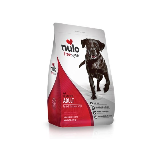 Nulo Freestyle Dog Food Grain Free Lamb and Chickpeas Recipe for Adult 11lb