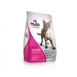 *Animal Lovers League* Nulo Freestyle Cat and Kitten Food Grain Free Chicken and Cod Recipe 12lb