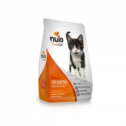 *Animal Lovers League* Nulo Freestyle Cat and Kitten Food Grain Free Turkey and Duck Recipe 12lb