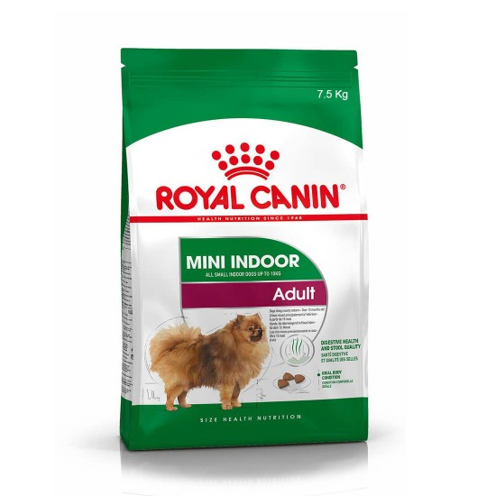 Royal Canin Dog Food for Mini Indoor Adult 7.5kg