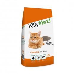 Sanicat Kitty Friend Clumping Cat Litter Unscented 10L