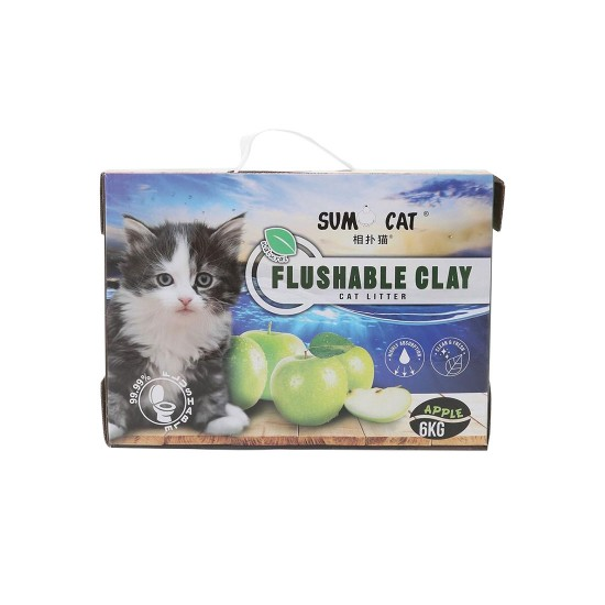 Sumo Cat Litter Flushable Clay Apple 6kg