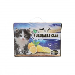 Sumo Cat Litter Flushable Clay Lemon 6kg