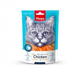 Wanpy Cat Treat Oven Roasted Chicken Strips Jerky 80g