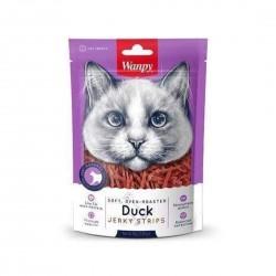 Wanpy Cat Treat Oven Roasted Duck Strips Jerky 80g
