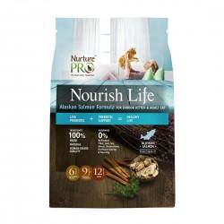 Nurture Pro Cat Dry Food Nourish Life Alaskan Salmon Formula for Indoor Kitten & Adult Cat 12.5lb