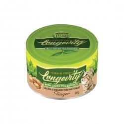 Nurture Pro Cat Food Longevity Chicken & Skipjack Tuna White Meat with Ginger 80g