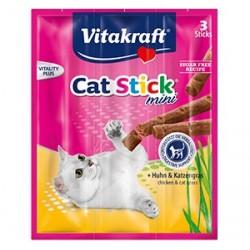 Vitakraft Cat Treat Stick Mini Chicken & Cat Grass
