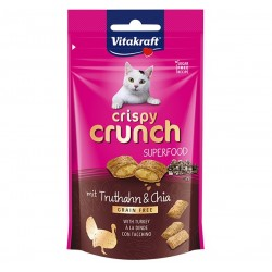 Vitakraft Cat Treat Crispy Crunch Turkey & Chia Seeds 60g