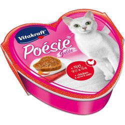 Vitakraft Cat Food Poesie Hearts Chicken, Carrot & Apple in Jelly Tray 85g