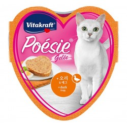Vitakraft Cat Food Poesie Hearts Duck & Egg in Jelly Tray 85g