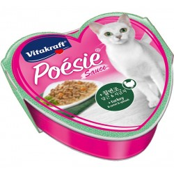 Vitakraft Cat Food Poesie Hearts Turkey, Carrot & Spinach in Sauce Tray 85g